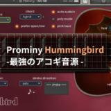 【レビュー】最強のアコギ音源:Prominy Hummingbirdを徹底解剖